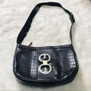 Escada Black Crocodile Purse